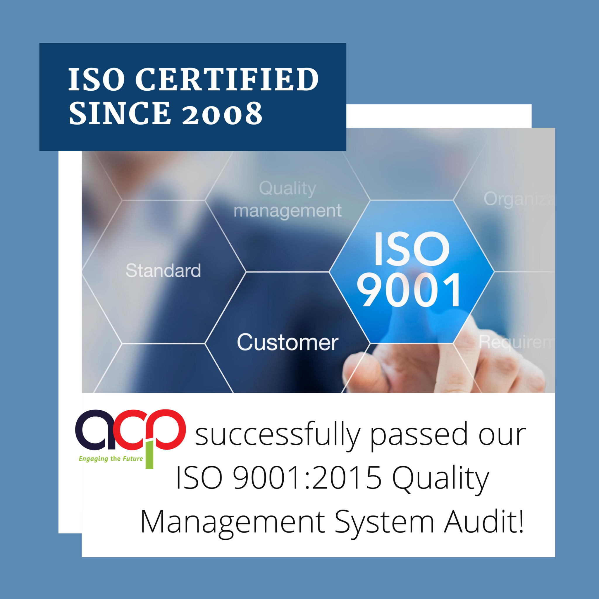 ISO Certified Since 2008